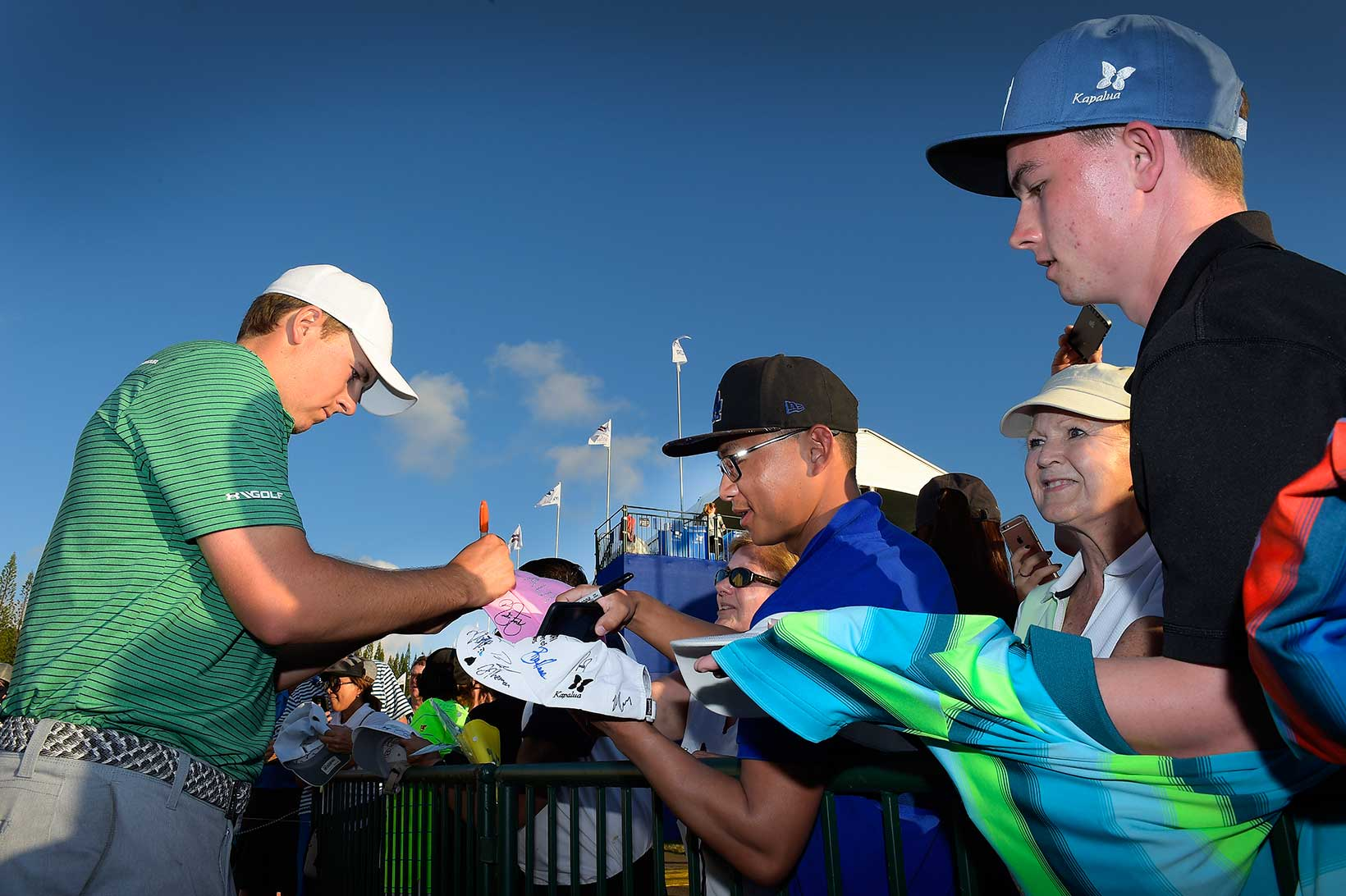 Jordan Signs Autographs After His Opening Round 66 at Kapalua