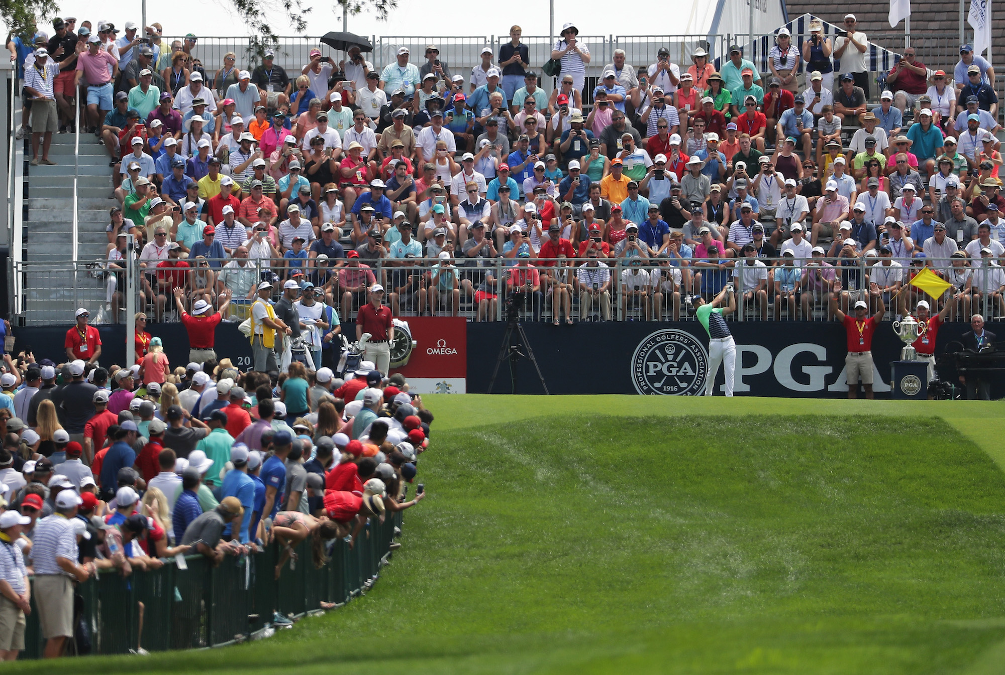 2018 PGA Championship: Round 1 - Tee Shot on Opening Hole