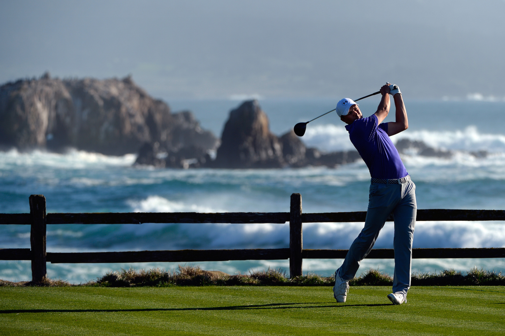 at t pebble beach pro am 2016 round 3 tee shot. Black Bedroom Furniture Sets. Home Design Ideas