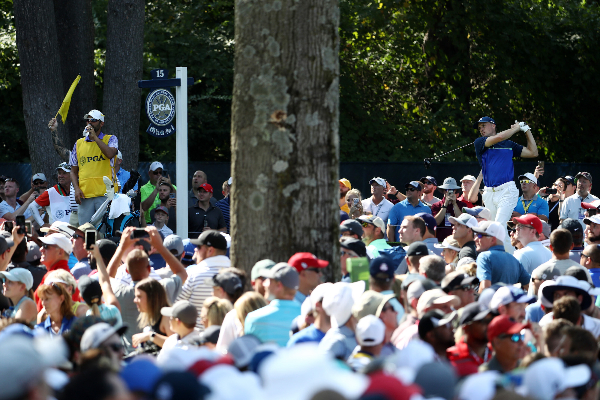 2018 PGA Championship: Round 3 - Tee Shot on No. 15