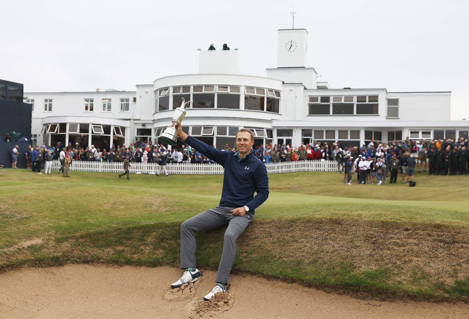 2017 Open Championship: Final Round - Jordan, the Claret Jug and the Royal Birkdale Clubhous