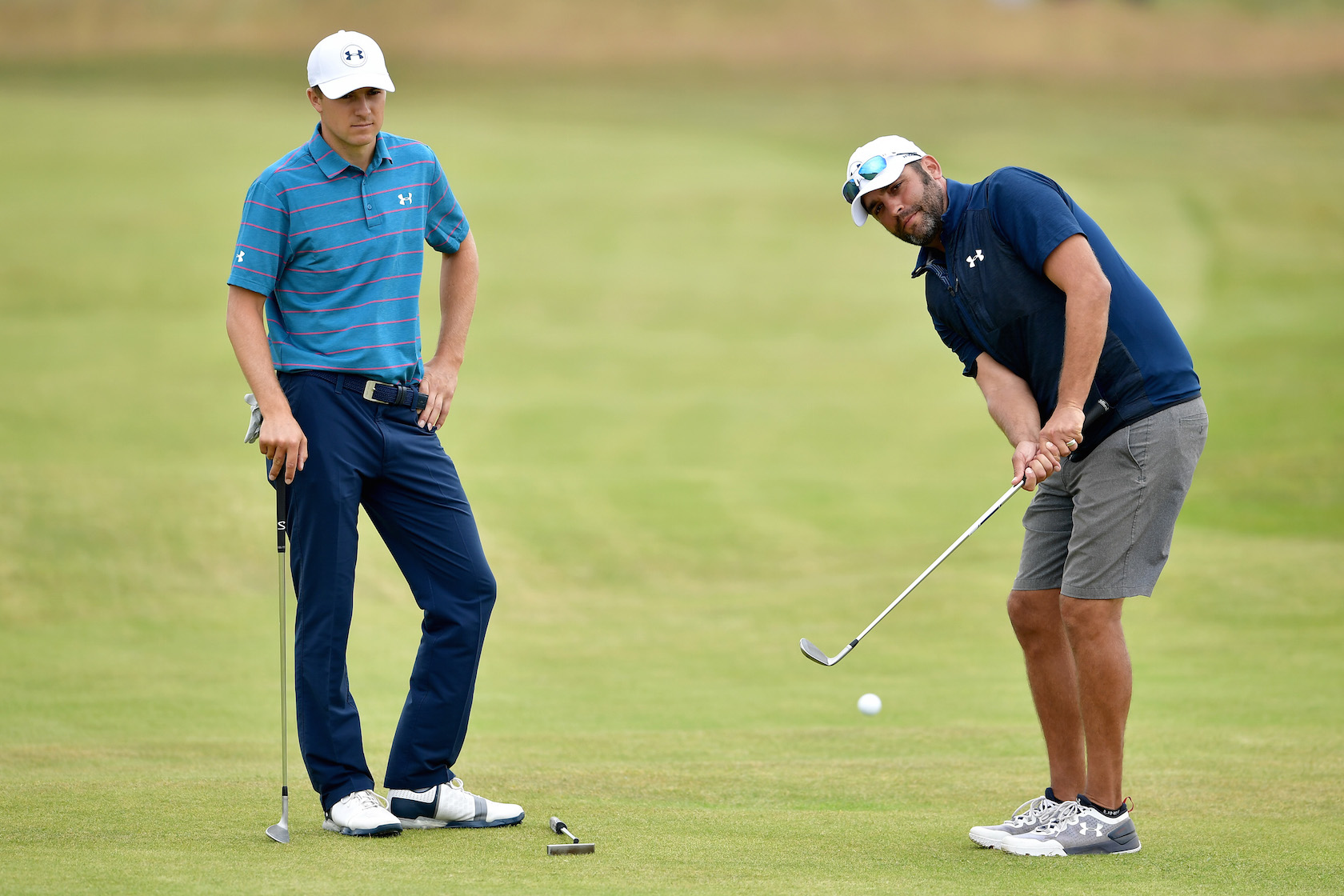 2017 Open Championship: Preview Day 3 - Michael Greller Chips with Jordan