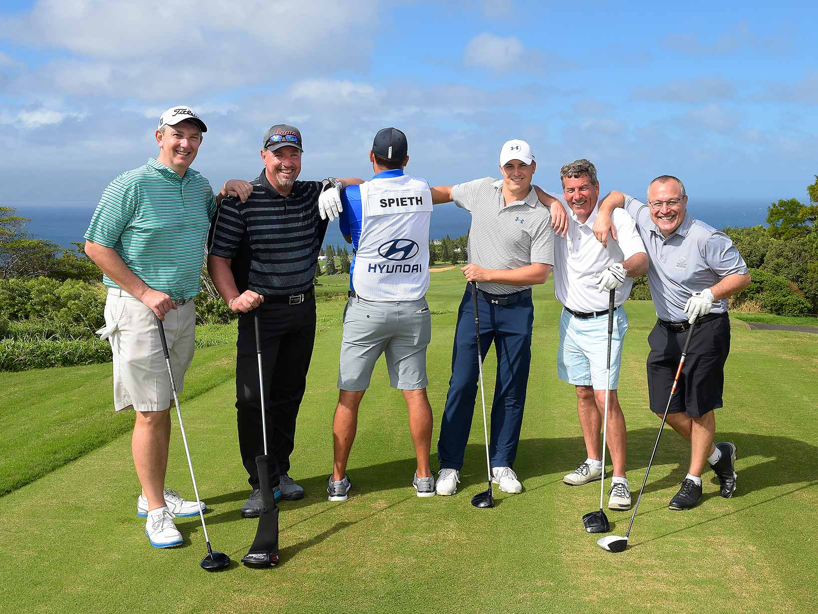 Team Spieth Poses for a Photo During Wednesday's Pro-Am