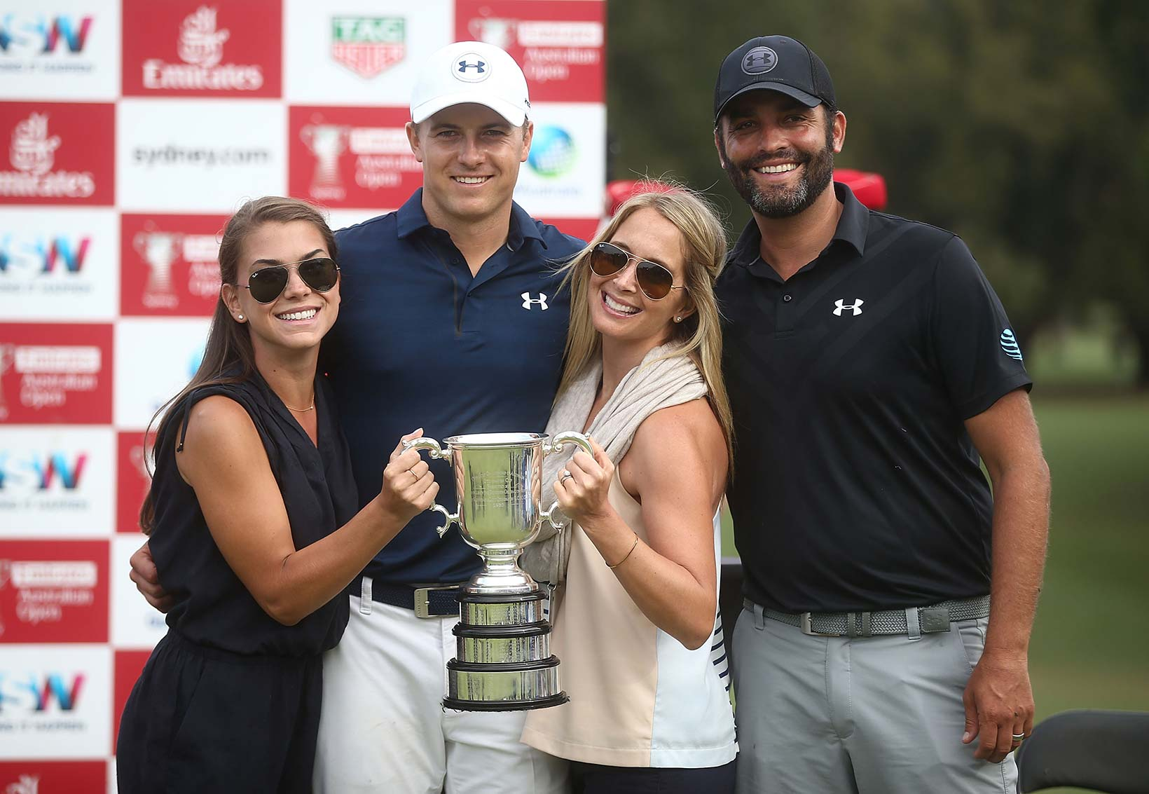 2016 Emirates Australian Open: Annie and Jordan Pose with Michael Greller and His Wife Ellie