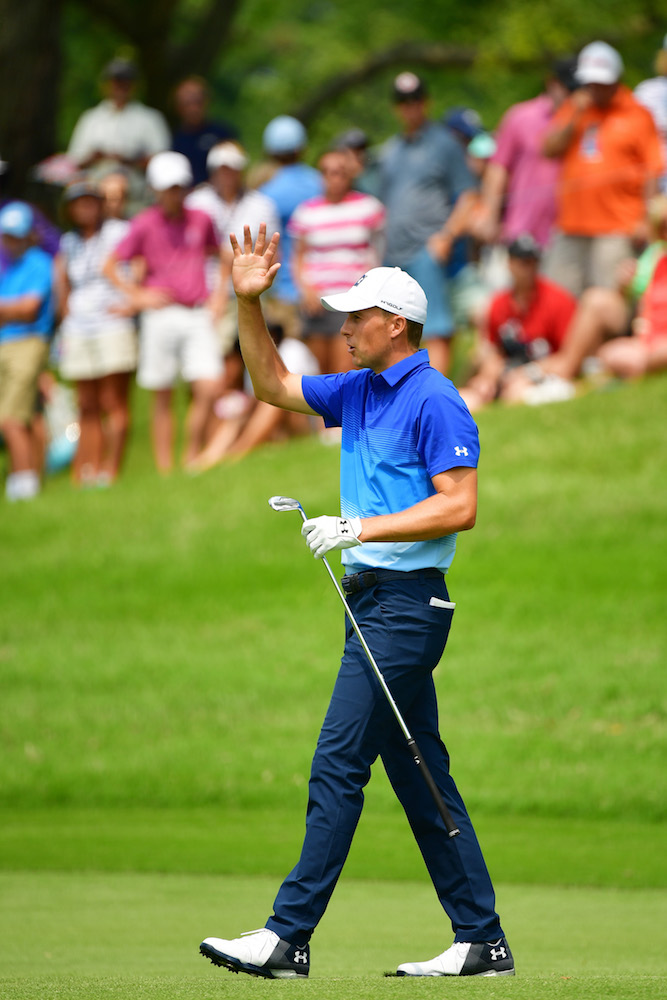 2018 PGA Championship: Round 3 - Acknowledging the Crowd on No. 5
