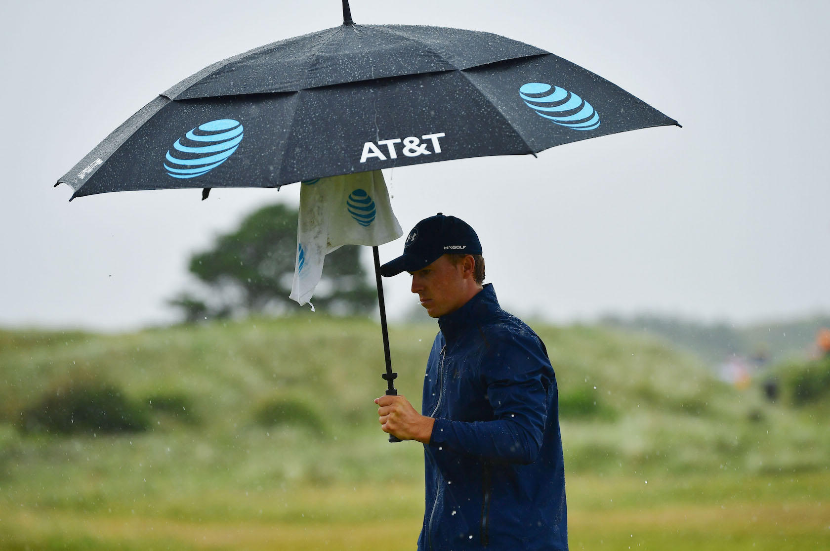 2017 Open Championship: Round 2 - 8th Hole Rain